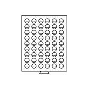 Бокс для монет деревянный для 54 монет номиналом 2 Euro (диаметр ячейки 26 мм) HMB54R/25 фото