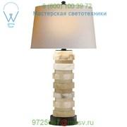 CHA 8934ALB-NP Visual Comfort Oval Stacked Table Lamp, настольная лампа фото