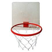 Кольцо баскетбольное КМС с сеткой d-380 фото