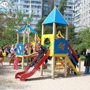 Доставка монтаж установка детских площадок ТМ Бимбока фото