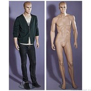 Манекен мужской стилизованный, реалистичный телесный, для одежды в полный рост, стоячий прямо, классическая поза. MD-M-72 фото