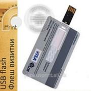 Изготовление USB flash флешки визитки с нанесением фото