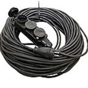 Удлинитель-шнур силовой каучук УШз16-103 IP44 3 гнезда с/з, 30м КГ 3х1,5 TDM фото