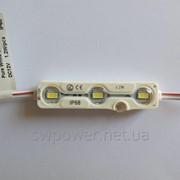 Светодиодный модуль SMD 5730 с линзой IP68, 1.2W, 3 LED фото