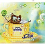 Схема под бисер Котенок с мишкой фото