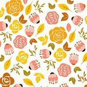 "Упаковочная бумага Миленд ""Цветы-3"", 10 листов в рулоне, 70 х 100 см., 90 г/м2, 10-05-0021 фото"