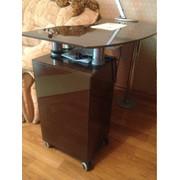 Маникюрный стол с вытяжкой , цвет мокка фото