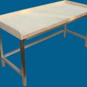 Стол производственный для мучных работ, нержавейка (без нижней полки или с ней) фото