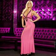 Вечернее розовое платье в пол от Hustler фото