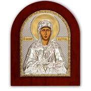 Икона Матрона Московская Серебряная Silver Axion Греция 260 х 310 мм на деревянной основе фото