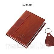 Обложка для водительского удостоверения с брелком SUBARU, 065-07-02К фото