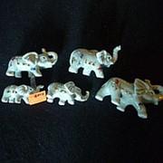 Сувенир Слоны 2449 7х3,5 см. фото