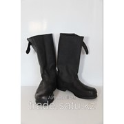 Сапоги юфтевые с кирзовыми голенищам зимние, арт. 3676221 фото