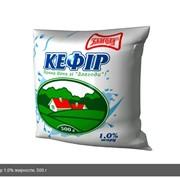 """Кефир 1,0% жирности, 500 г, полиэтиленовая пленка. ТМ """"Злагода"""". фото"""