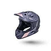 Шлем 02-10621125 Full Face DH/BMX Zoka 6отв. Stripe матово/ черно/бронзовый S(54-56см) LDL KALI NEW фото