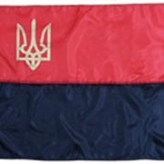 Прапор УПА з тризубом фото