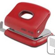 Дырокол малый Rapid FC10, 10 л, 80 мм, картонная коробка Красный фото