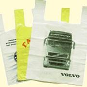 Пакеты полиэтиленовые с вырубной ручкой тип `майка` (с боковыми складками) фото