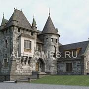 Проект кирпичного особняка в замковом стиле V-901-1K фото