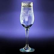 """Набор бокалов для шампанского с рисунком """"Нежность"""", 6 предметов, EAV34-160 фото"""