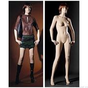 Манекен женский реалистичный телесный, с макияжем (парик отдельно), для одежды в полный рост, стоячий прямо, руки немного согнуты. MD-MAN-12 фото