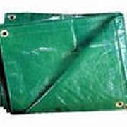 Тент Тарпаулин 6*10 м пл.120 г/кв.м зеленый/серебристый фото