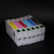 ПЗК T5591-T5596 (перезаправляемые картриджи) для Epson RX700 набор 6шт фото
