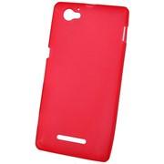 Чехол силиконовый матовый для Sony xperia M красный фото