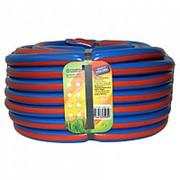 Шланг поливочный Д=3/4 (20м) синий с оранжевой полосой (фитинг в подарок) фото
