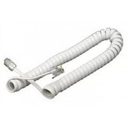 Телефонный шнур витой для трубки белый 4 метра фото