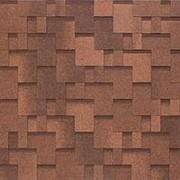 Гибкая черепица Nobil Tile Акцент Красно-коричневый 1000х337мм фото