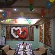 Сердца свадебные из шаров фото