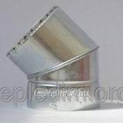 Колено 45* нерж/оцинк толщина 0,6мм ф130х200 фото
