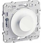 Светорегулятор поворотный (R+RL) 40-600 Вт/ВА белый ODACE фото