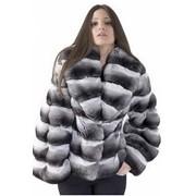 Пальто из меха шиншиллы фото