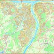 Настенная карта г. Нижнего Новгорода (подробность до дома) актуальность 2015 г.