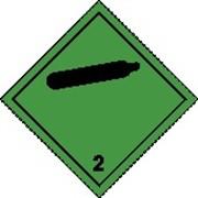 Знак опасности на баллоны 30*30мм + надпись № ООН **** (например 1965) фото