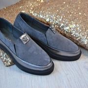 Женские модные кожаные слипоны, в расцветках. ВВ-5-0817 фото