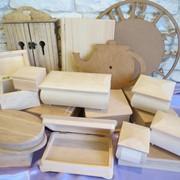 Заготовки для декупажа, деревянные заготовки, заготовки для часов, шкатулки, комодики, купюрницы, сундуки, книжки. фото