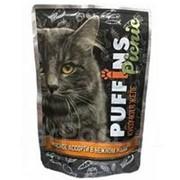 Puffins Picnic 85г пауч Влажный корм для взрослых кошек Мясное ассорти (желе) фото