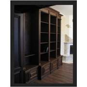 Книжный шкаф ручной работы искусственно состаренный фото
