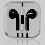 Наушники для Apple iPhone 5 \ 4\ 3 iPad 4 \ mini Ear Pods style черные (аксессуары для айфон \ фото
