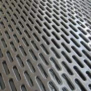Стальной перфорированный лист 950x0,75 мм Перфорация Lgvl ГОСТ 19904-90 фото