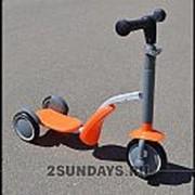 Самокат-беговел Scooter 2в1 оранжевый фото