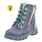 352071-53 син-зел ботинки малодетско-дошкольные нат. кожа Р-р 26 фото
