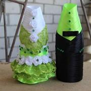 Чехлы для оформления свадебного шампанского фото