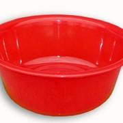 Таз пластмассовый красного цвета фото