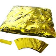 Конфетти - ''Метафан'' золотой, металлизированный 1*4 см фото