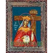 Благовещенская икона Елена, святая равноапостольная, царица, копия старой иконы, печать на дереве Высота иконы 11 см фото