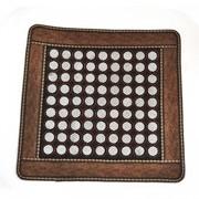Нефритовый коврик - квадрат маленькие камни, 46х46 см фото
